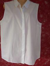 ADPTFOUR White Sleeveless Cotton Shirt - Extra Large RRP £45.00