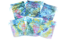 Six Bags 3x4inch Multicolor Organza Drawstring Jewelry Gift Bling Pouches