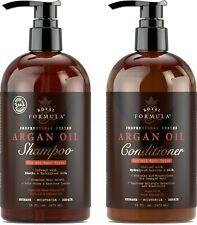 Moroccan Argan Oil Shampoo and Conditioner Set, Sulfate - Free (16 oz/473 ml)
