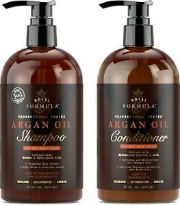 Moroccan Argan Oil Shampoo and Conditioner Set, Sulfate - Free (16 oz/473 ml)