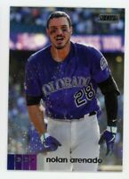 2020 Topps Stadium Club #120 NOLAN ARENADO Colorado Rockies PHOTO BASEBALL CARD