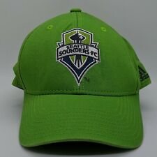 ADIDAS Seattle Sounders FC MLS Embroidered Logo Hat Strapback Cap Green