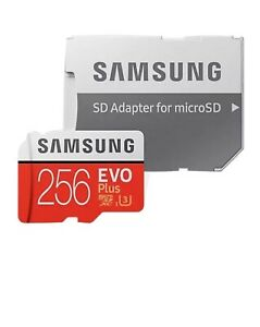 Samsung Memory Evo Plus 256GB Micro SD Card 90MB/s with Adapter