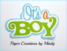 CRAFTECAFE MINDY BABY BOY premade paper piecing TITLE DIE CUT scrapbook