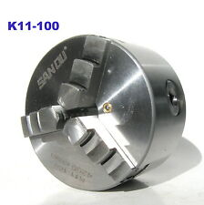 "1 pc Lathe Chuck 4"" 3 Jaw Self Centering w/2 sets Jaw K11-100 sct-888"