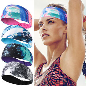 New Women Sport Sweatband Headband Yoga Gym Running Stretch Sports Head Band Men