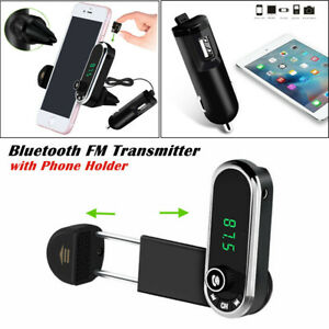 1X Car Bluetooth FM Transmitter MP3 Hands-free Radio Player Phone Holder Charger