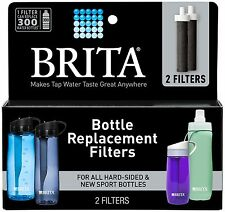 BRITA 2 BOTTLE REPLACEMENT WATER FILTERS For Sport Hard-Sided Soft-Sided Bottles