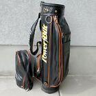 Retro Vintage Louisville H&B Power Bilt Orange Black Golf Cart Leather Bag