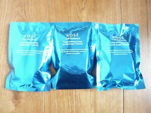 Kose Cell Radiance NEW konjac sponge x 3 exfoliator wash facial puff From Japan