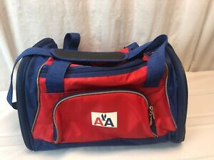 American Airlines - Vintage Red and Blue Mesh Pet Carrier Duffle Bag