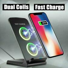 15W Qi Wireless Charger Fast Charging Dock Stand For i X S10+ S9 Samsung P6W1