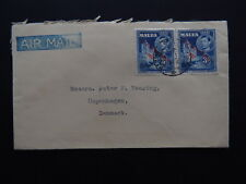cover Malta Self government Saccone & Speed 1947 Air mail to Denmark Heering