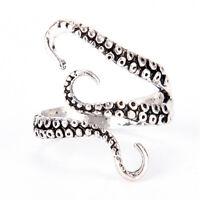 VintageSilber verstellbare Octopus Ring Meer Monster Finger Ring Punk Schmuck XJ