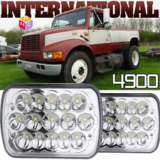 Pair Led Headlights high low Sealed Beams fit for International Harvester 4900