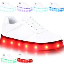 Sportliche Damen Sneakers Low Kunstleder Freizeit Schuhe 811000 Top