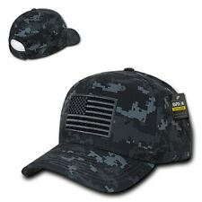 Camo Usa Us American Flag Patch Military Combat Army Tactical Operator Cap Hat