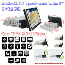 """Android 9.1 1 Din 9"""" Adjustable Screen Car Stereo Radio GPS MP5 Player 2+32GB"""