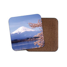 Mount Fuji Japan Drinks Coaster - Mountain Cherry Blossom Sakura Cool Gift #8986