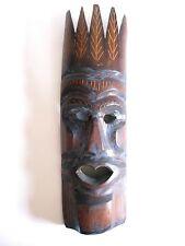Ältere Holzmaske aus Afrika Teakholz hand-geschnitzt 40 cm hoch