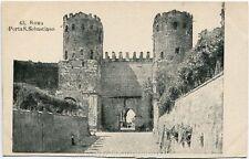 Primi 1900 Roma - Porta San Sebastiano vista dell'entrata - FP B/N