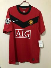 2009-10 Manchester United (H) with 10 Rooney and European championleague badge