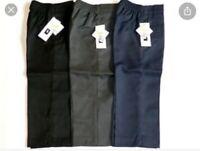 Boys/ Kids Pull Up School Trousers Uniform Age 5/6Yrs Half Elasticated Teflon