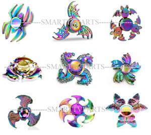 Rainbow Animal Fidget Spinners EDC Bearing Autism Focus Kids Stress UK