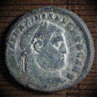 Rare type Maximinus II. AE 28mm Follis. Heraclea. 305-306 AD.  Ancient coins A1s