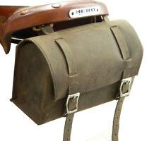 Vintage leather Bicycle Saddle bag Racer bike Tools kit Brown box tool bag New