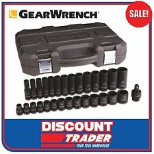 "GearWrench 29Pc 3/8"" Drive 6 Point Metric Standard/Deep Impact Socket Set 84925N"