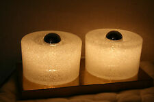 Eisglas Iceglass Lamp Flush Mount Wall Wandlampe Doria Putzler Limburg Ära