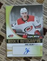 JAKE BEAN 2018-19 Upper Deck Synergy Rookie Autographs | RC Auto | Hurricanes