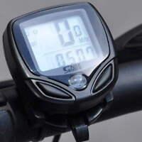 Wireless LCD Cycle Computer Bicycle Meter Speedometer Odometer For Bike Best  NL