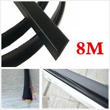 8M/26ft V-Seal Strip Car Door Window Glass Seal Weather Strip Fix Abnormal Sound