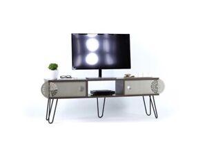 NEW IN BOX Mingitav Illia Maxi TV Unit - White - Midcentury Modern Wayfair $200