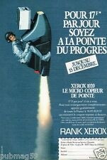 Publicité advertising 1984 Le Micro Copieur Rank Xerox