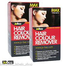 2 Boxes JoBaz Hair Colour Remover Stripper Max Strength Removes Darker Dyes