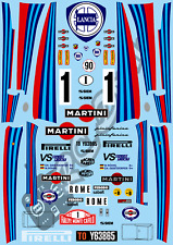 1/10 Decal Rally Set Lancia 037 Martini  Tamiya TA01 TA02 TT01