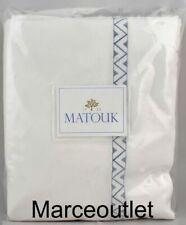 Matouk Schumacher Prado 520 Thread Count Percale Full Queen Flat Sheet Hazy Blue