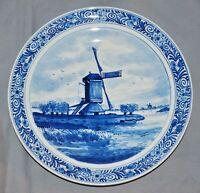 Zierteller Wandteller Delfts Blauw,Fayence, Windmühle, De Porceleyne Fles, Delft