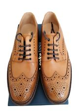 LOAKE 1880 CHESTER  TAN CALF LEATHER BROGUES.SIZE 8. MADE IN ENGLAND