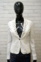 Giacca Bianca Donna JOHN RICHMOND Taglia 42 S Giubbino Jacket Woman Elastico