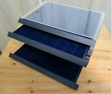 More details for safe collecting supplies - coin collection storage drawer x6, assorted denominat