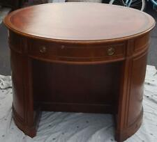 Beautiful Solid Wood Irwin Round Desk with Display Shelves - VGC - GORGEOUS DESK