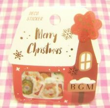 BGM / Merry Christmas House Washi Paper Flake Sticker / Japan 45 pieces X'mas