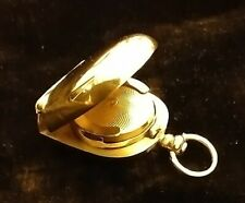 More details for solid 18ct gold vintage sovereign coin case holder very unusual horseshoe shape