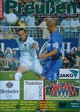 Programm 2002/03 SC Preußen Münster - Bayer Leverkusen U21
