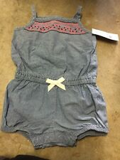 NWT Girls  One Piece Jean Like Carters 12 Month Outfit