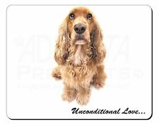 Gold Cocker Spaniel-With Love Computer Mouse Mat Christmas Gift Idea, AD-SC72uM